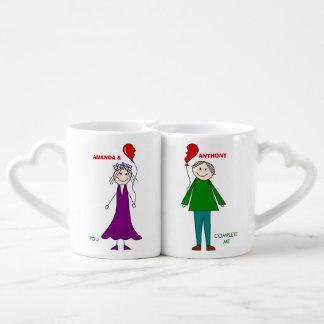 Personalizado usted me termina set de tazas de café