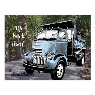 Personalizar antiguo de COE Dumptruck Postcard2- Postal