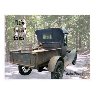 personalizar antiguo del camión y aún de la postal