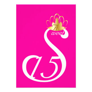 Personalizar blanco de Coronation_ del dulce quinc Invitacion Personal