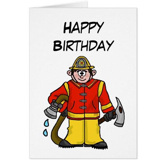 ¡Personalizar caucásico de la tarjeta del bombero