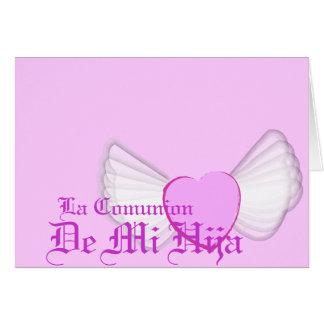"""Personalizar de """"Comunion"""" de mi hija - Tarjeta De Felicitación"""