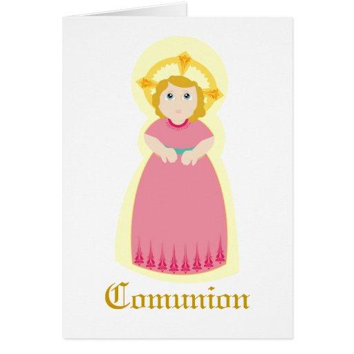 "Personalizar de ""Comunion"" - Tarjeta"
