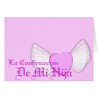 """Personalizar de """"Confirmacion"""" de mi hija - Tarjeta De Felicitación"""