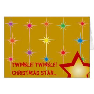 Personalizar de la estrella del navidad del tarjeta