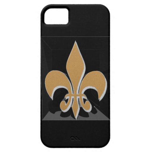 Personalizar de la flor de lis él iPhone 5 Case-Mate cárcasas