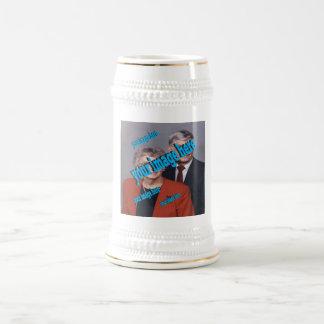 Personalizar de la foto de familia del incendio jarra de cerveza