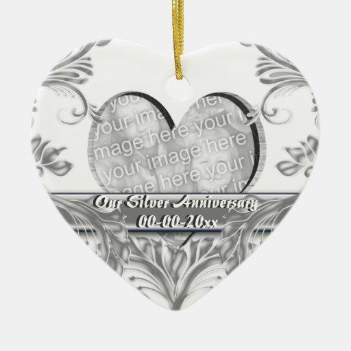 Personalizar de la foto del aniversario de bodas d ornamentos para reyes magos
