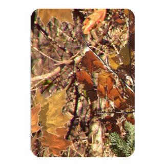 ¡Personalizar de la pintura del camuflaje de Camo Invitación 8,9 X 12,7 Cm