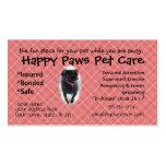 Personalizar de la tarjeta de visitas del perro de tarjetas de negocios