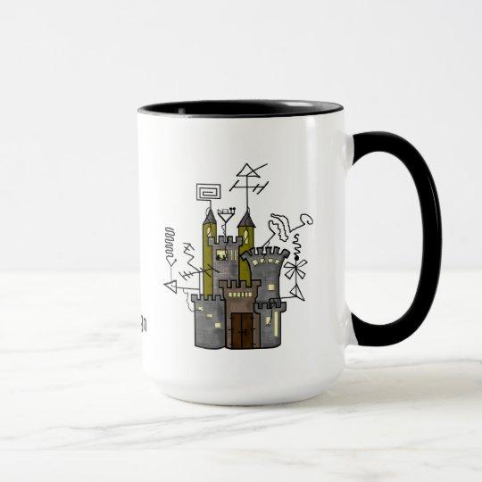 ¡Personalizar de la taza de la cabaña del castillo