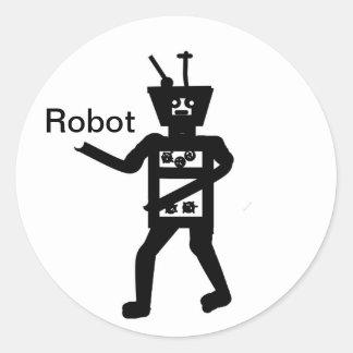 Personalizar de las tarjetas del robot pegatina redonda