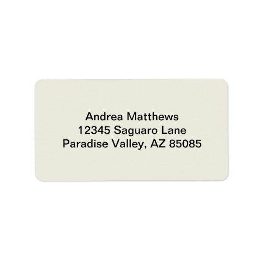 Personalizar de marfil del color sólido él etiquetas de dirección