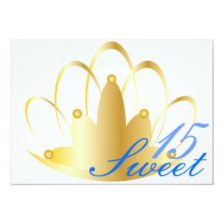 Personalizar de Tiara_ del dulce quince Invitación 12,7 X 17,8 Cm