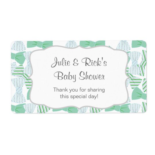 ¡Personalizar del bowties- del favor de la botella Etiqueta De Envío
