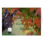 Personalizar del cumpleaños del hee-haw del burro tarjeton