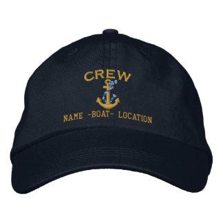 Personalizar del equipo su ancla conocida de la gorra bordada