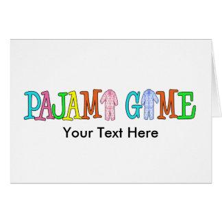 ¡Personalizar del juego del pijama él! Tarjeton
