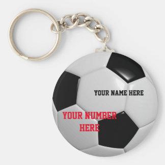 Personalizar del llavero del balón de fútbol su