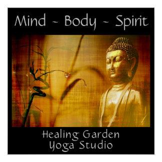 Personalizar del poster del estudio de la yoga de