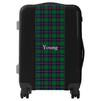 Personalizar joven del tartán del clan su nombre maletas