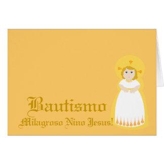"""Personalizar milagroso de """" Bautismo"""" - Tarjeta De Felicitación"""