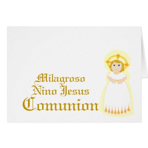 """Personalizar milagroso de """"Comunion"""" - Felicitación"""