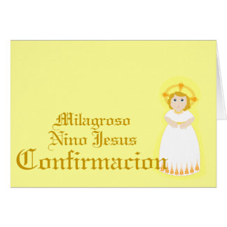 Personalizar milagroso de Confirmacion - Tarjeton