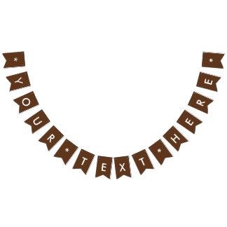 Personalizar oscuro del color sólido del chocolate banderines