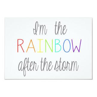*Personalize* de la tarjeta del bebé del arco iris