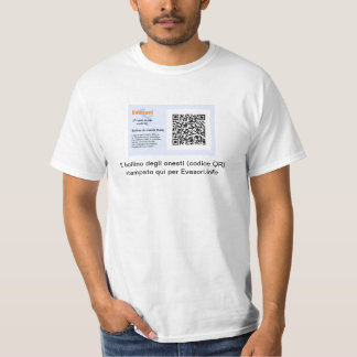 Personalizzato de con bollino di onestà de la camiseta