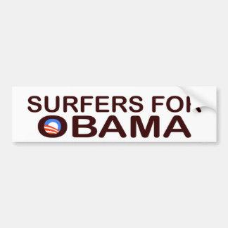 PERSONAS QUE PRACTICA SURF PARA OBAMA BUMPERSTICKE PEGATINA PARA COCHE