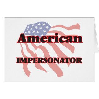 Personificador americano tarjeta pequeña