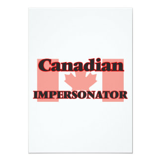 Personificador canadiense invitación 12,7 x 17,8 cm
