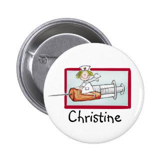 Personlaize con el nombre - botón para Supernurse Pins