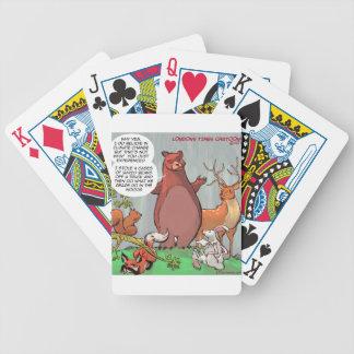 Perspectiva de la fauna del cambio de clima divert barajas de cartas