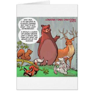 Perspectiva de la fauna del cambio de clima divert tarjeta de felicitación