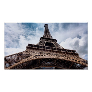 Perspectiva de la torre Eiffel Póster