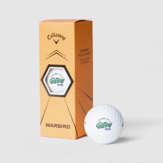 Pertenezco a las pelotas de golf Golfing del papá