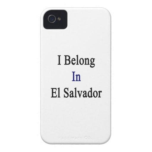 Pertenezco en El Salvador iPhone 4 Carcasas