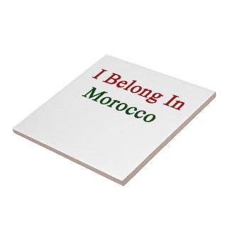 Pertenezco en Marruecos Azulejo Cerámica