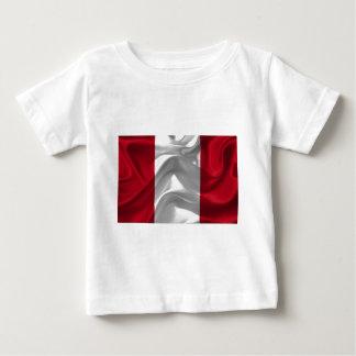 Perú-Bandera Camiseta De Bebé