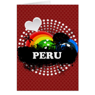 Perú con sabor a fruta lindo tarjeta de felicitación