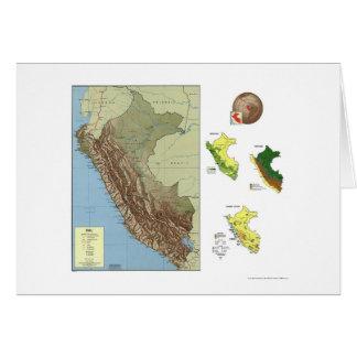 Perú detalló el mapa 1970 tarjetas