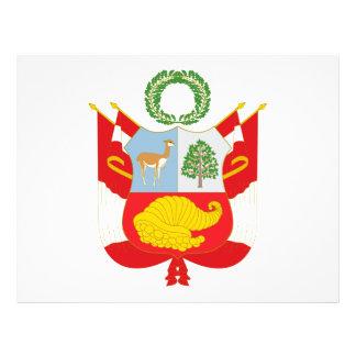 Perú - escudo de armas flyer a todo color