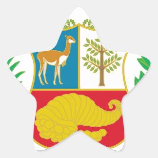 Perú - escudo Nacional (emblema nacional) Pegatina En Forma De Estrella