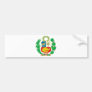 Perú - escudo Nacional (emblema nacional) Pegatina Para Coche