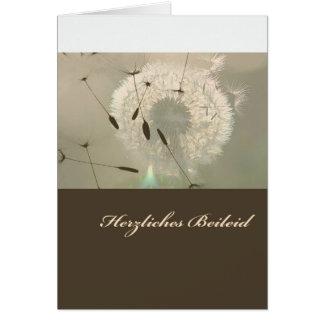 Pésames cordiales tarjeta