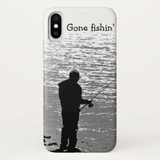 Pesca blanco y negro en el caso del iPhone X del Funda Para iPhone X