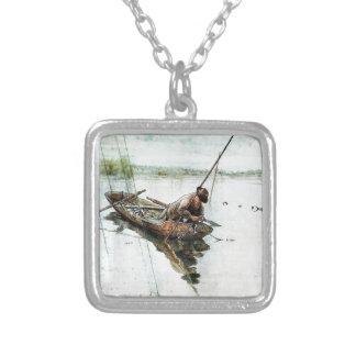 Pesca con las redes 1905 colgante cuadrado